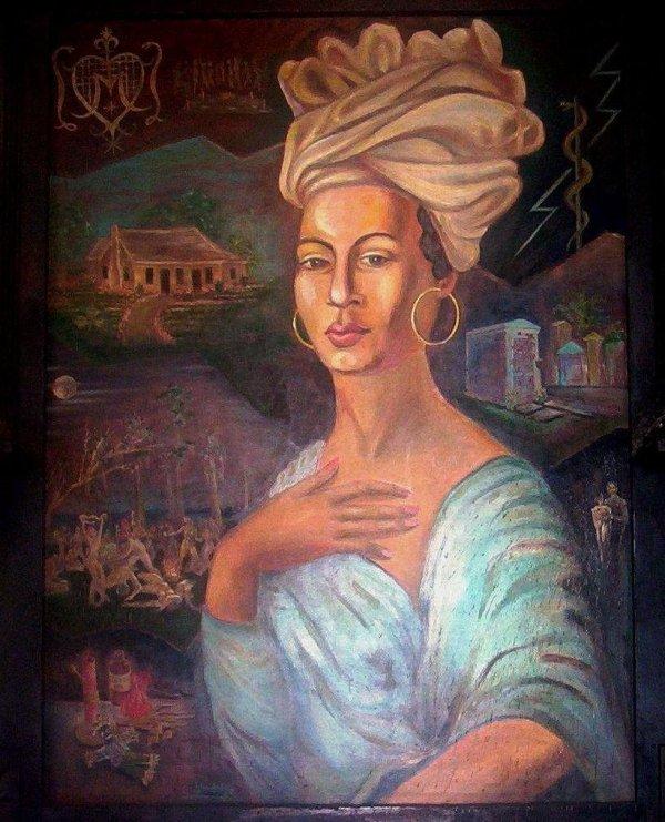 Marie Laveau, retratada por Charles Gandolfo