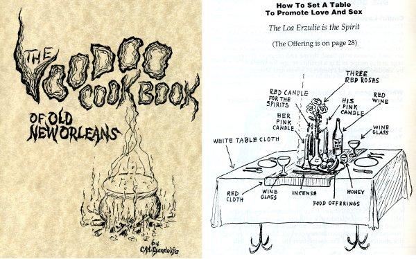 The Voodoo Cookbook Of Old New Orleans enseña cómo disponer una mesa para promover el amor