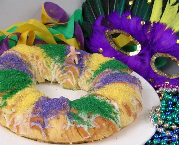 El King Cake, la adaptación de nuestro roscón de Reyes