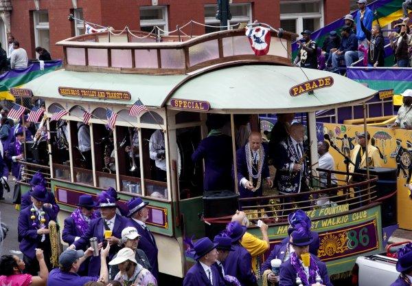 Una de las carrozas de Mardi Gras. Foto: Carol M. Highsmith, Library Of Congress