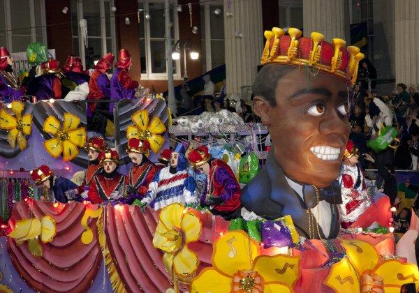 Otra de las espectaculares carrozas que desfilan en Mardi Gras. Foto: Carol M. Highsmith, Library Of Congress