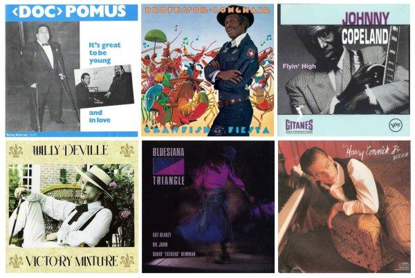 Portadas de discos de artistas con los que Dr. John ha colaborado en algún momento de su carrera