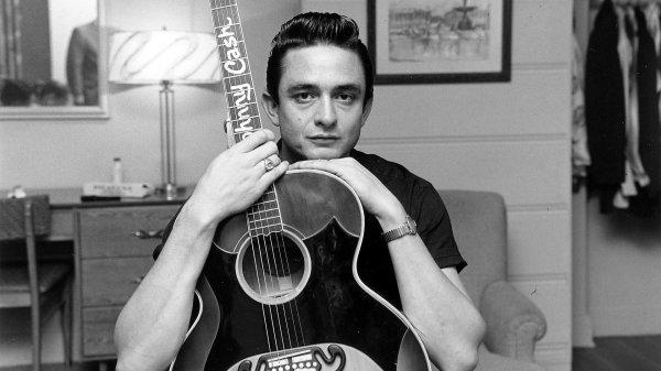 Un joven Johnny Cash