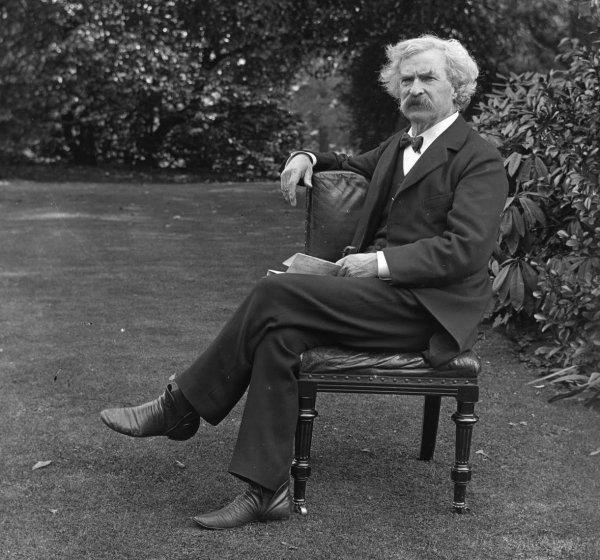 El escritor del Mississippi por antonomasia, Mark Twain. Foto: The Mark Twain House & Museum