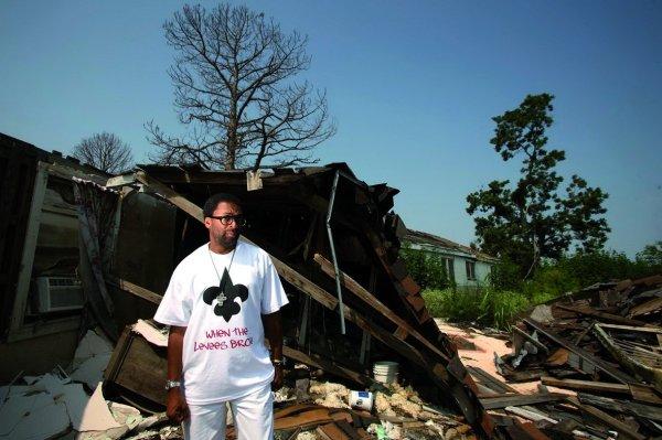 El director Spike Lee en Nueva Orleans durante el rodaje de su documental
