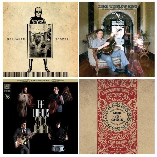 Portadas de los álbumes de Benjamin Booker, Luke Winslow-King, The Limboos y el tributo a Chris Smither