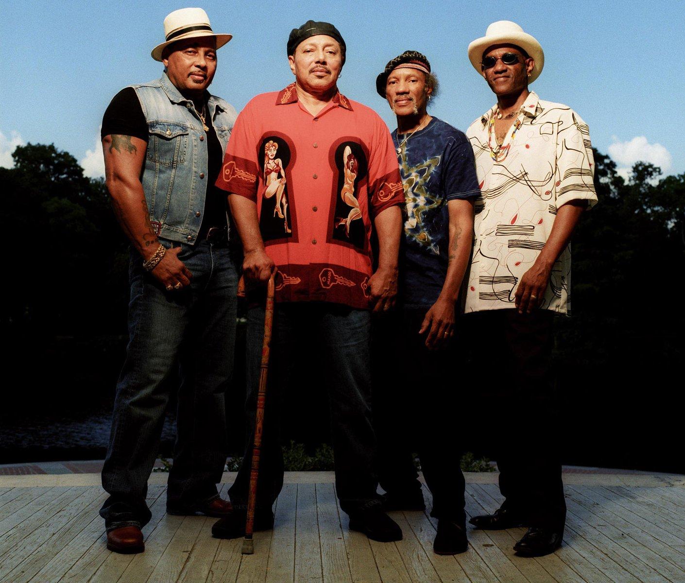 La familia funk por excelencia de Nueva Orleans, los hermanos Neville: Aaron, Art, Charles y Cyril