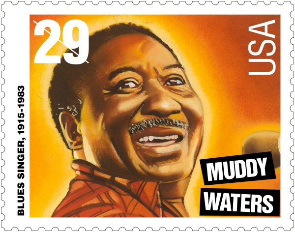 Muddy Waters, el padre del blues de Chicago moderno, fue objeto de un sello conmemorativo en 1994