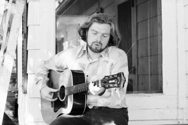 Un joven Van Morrison a principios de los años setenta. Foto: Estate Of David Gahr