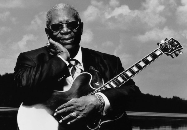 B.B. King, con su inseparable Lucille