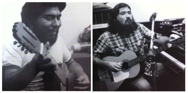 César Rosas y David Hidalgo en la época de Los Lobos del Este de Los Ángeles