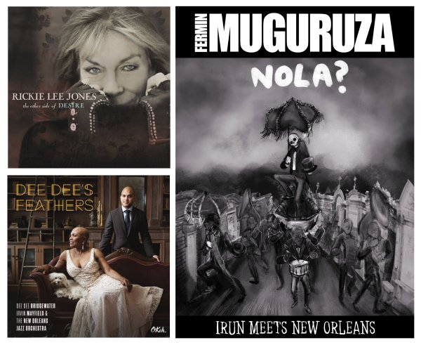 Portadas de los álbumes de Rickie Lee Jones, Fermin Muguruza y Dee Dee Bridgewater, Irvin Mayfield & The New Orleans Jazz Orchestra