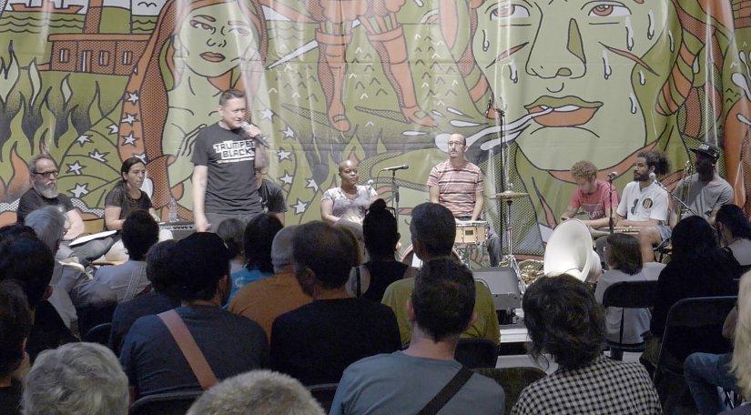 Fermin Muguruza, durante la presentación del acto. Foto: Daniel Gómez